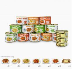 Pakete Notfall-Nahrung